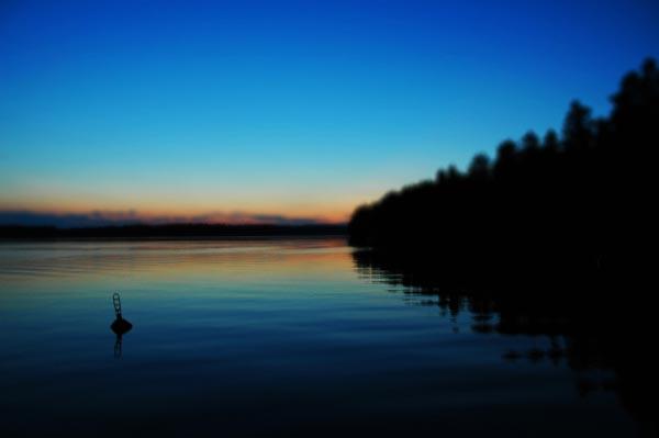 Finlandia Tramonto Lago Saimaa
